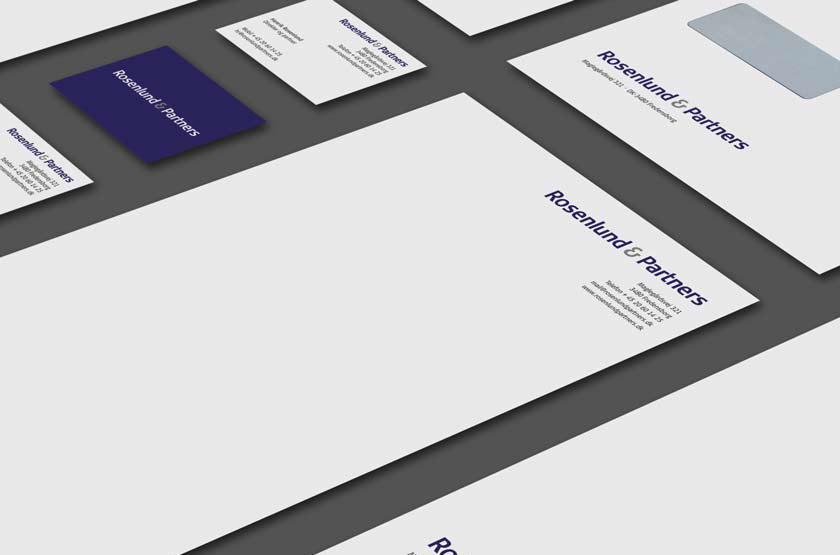 Rosenlund & Partners. Udvikling af identitet.