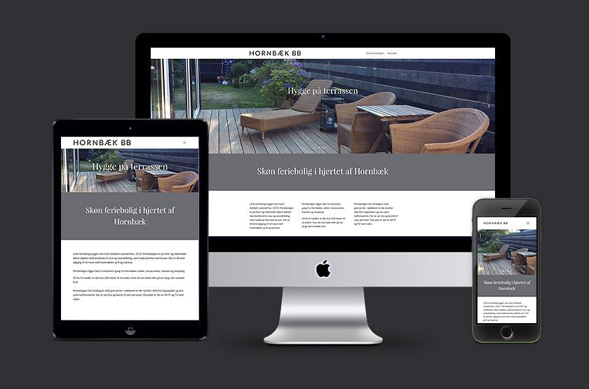 Hornbæk BB. Webdesign.